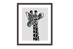 Print on Demand: Giraffe Simple Cross Stitch Pattern Graphic Cross Stitch Patterns By Tango Stitch