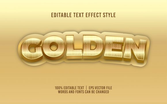Golden Text Effect Editable Font Graphic Add-ons By visitindonesia