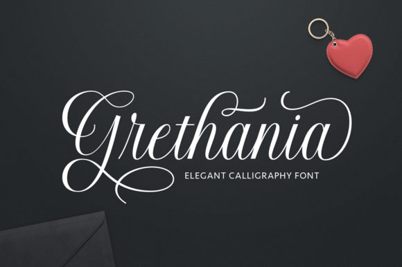 Print on Demand: Grethania Script & Handwritten Font By Romie Creative