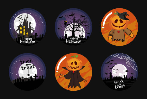 Halloween Collection Sublimation Graphic Illustrations By onoborgol