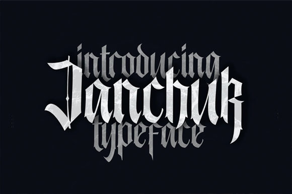 Print on Demand: Janchuk Blackletter Font By Visuelcolonie