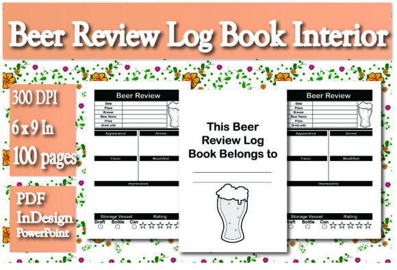 Print on Demand: KDP Beer Review Log Book Interior Graphic KDP Interiors By Ivana Prue