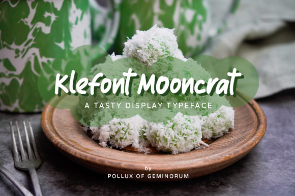 Print on Demand: Klefont Mooncrat Script & Handwritten Font By Pollux of Geminorum