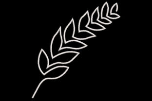 Print on Demand: Minimalistic One Line Leaves Single Flowers & Plants Embroidery Design By Embroidery Shelter