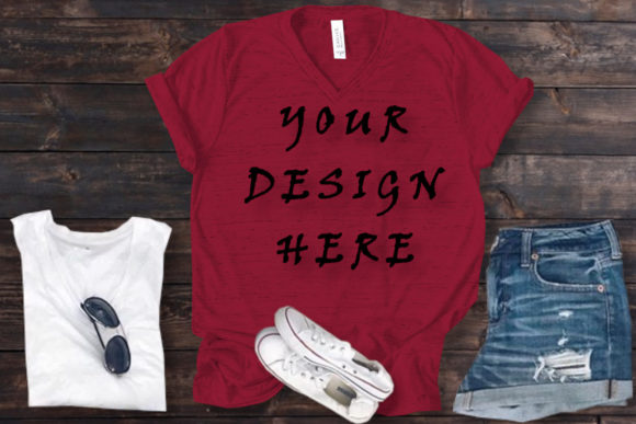 Mockups Red T-shirt Bella Canvas Graphic Product Mockups By ArtStudio