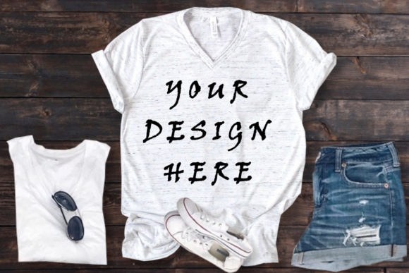 Mockups White Bella Canvas T-shirt Graphic Product Mockups By ArtStudio