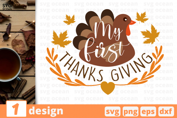 Print on Demand: My First Thanks Giving Graphic Crafts By SvgOcean