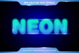 Neon Lights Text Effect Style Editable Graphic Add-ons By visitindonesia