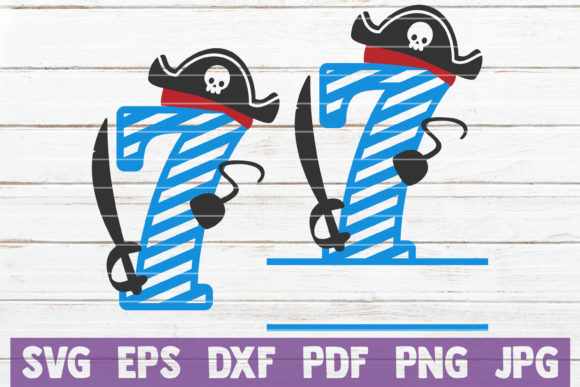 Pirates Birthday No 7 Graphic Crafts By MintyMarshmallows