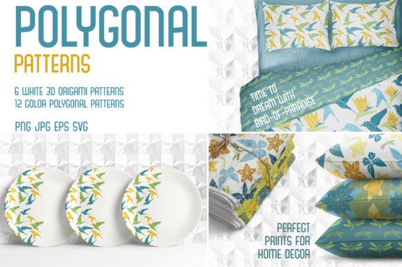 Polygonal Patterns Graphic Patterns By AstraDesign