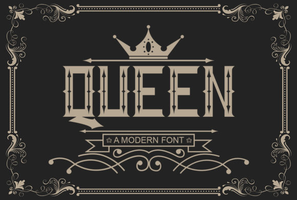 Print on Demand: Queen Display Font By Sealoung