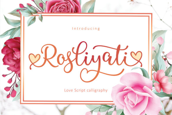 Print on Demand: Rosliyati Script & Handwritten Font By Sulthan Studio