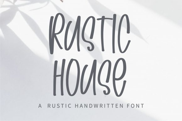 Print on Demand: Rustic House Script & Handwritten Font By BitongType