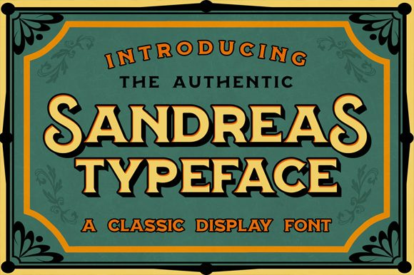 Print on Demand: Sandreas Display Font By Visuelcolonie