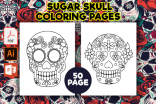 Print on Demand: Sugar Skull Coloring Pages for Kids Graphic Coloring Pages & Books Kids By Fox Design Studio