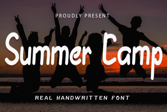 Print on Demand: Summer Camp Script & Handwritten Font By koko.sample