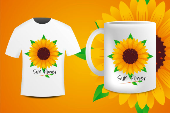 Print on Demand: Sun Flower Creative Sublimation Graphic Illustrations By edywiyonopp
