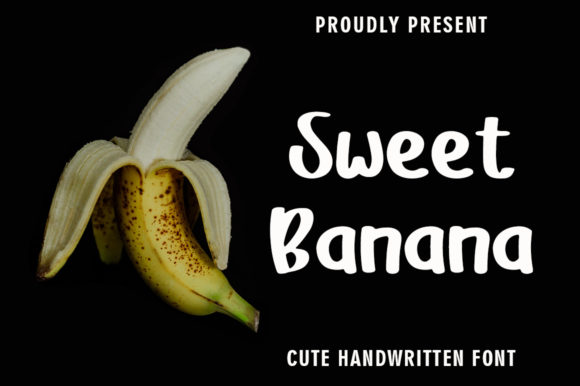 Print on Demand: Sweet Banana Script & Handwritten Font By rangkaiaksara