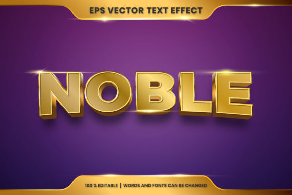 Text Effect in 3d Noble Words Text Effec Grafik Add-ons von visitindonesia