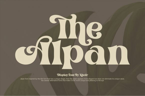 Print on Demand: The Alpan Display Font By mrkhoir012
