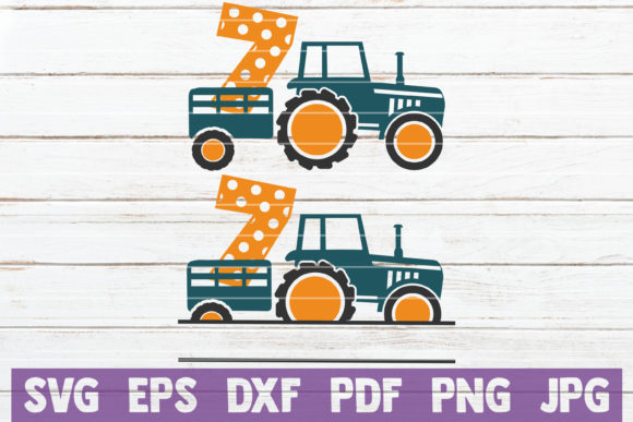 Tractor Birthday No 7 Graphic Crafts By MintyMarshmallows