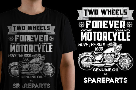 Two Wheels Graphic Crafts By ShirtGraphic