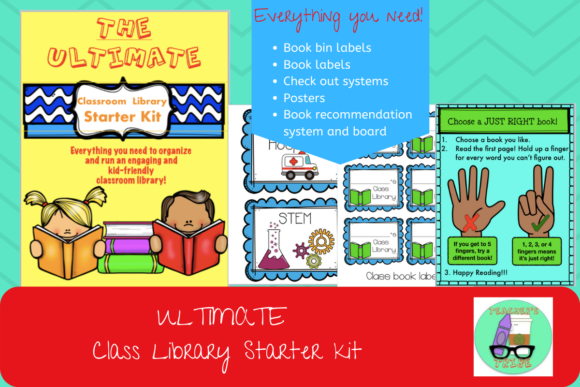 Ultimate Classroom Library Starter Kit Graphic Teaching Materials By Teacher's Tribe