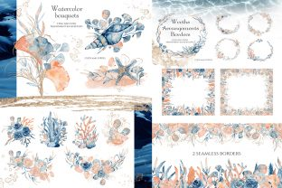 Underwater Watercolor Collection Graphic Illustrations By EvgeniiasArt 4