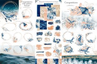 Underwater Watercolor Collection Graphic Illustrations By EvgeniiasArt 6