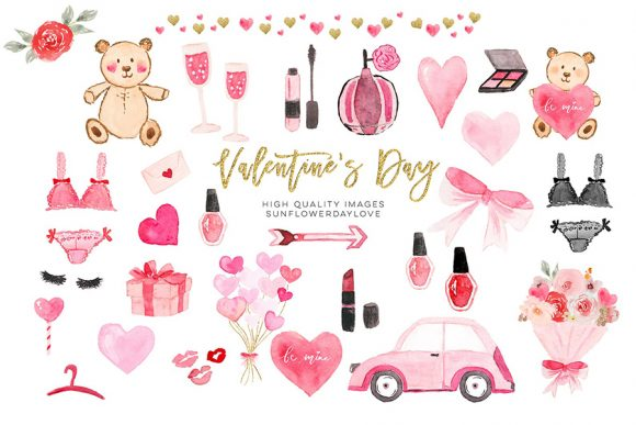 Print on Demand: Valentines Day Planner Banner Clipart Graphic Illustrations By SunflowerLove