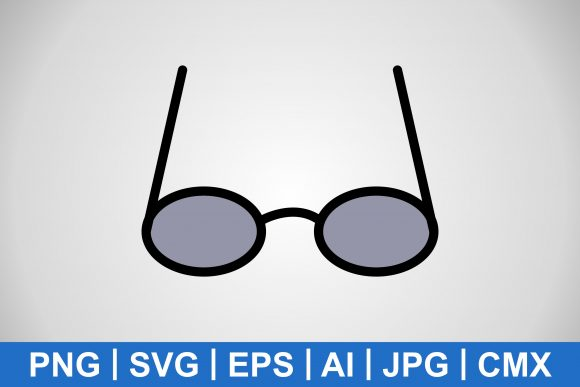 Print on Demand: Vector Grey-tinted Glasses Icon Graphic Icons By IYIKON