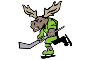 Moose Playing Hockey Winter Craft Cut File By Creative Fabrica Crafts