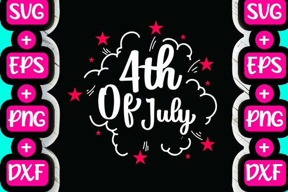 Print on Demand: 4th of July Typography Design Graphic Print Templates By svg.in.design