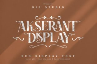 Print on Demand: Akserant Display Font By Din Studio