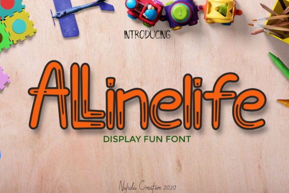 Print on Demand: Allinelife Display Font By Nahda Creative