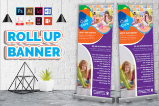 Print on Demand: Baby Care Rollup Banner Vol-01 Graphic Print Templates By Imagine Design Studio