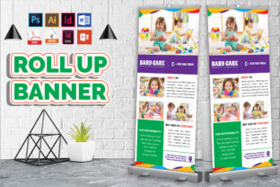 Print on Demand: Baby Care Rollup Banner Vol-02 Graphic Print Templates By Imagine Design Studio