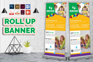 Print on Demand: Baby Care Rollup Banner Vol-3 Graphic Print Templates By Imagine Design Studio