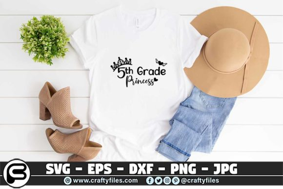 Back To School 5th Grade Princess Graphic By Crafty Files Creative Fabrica