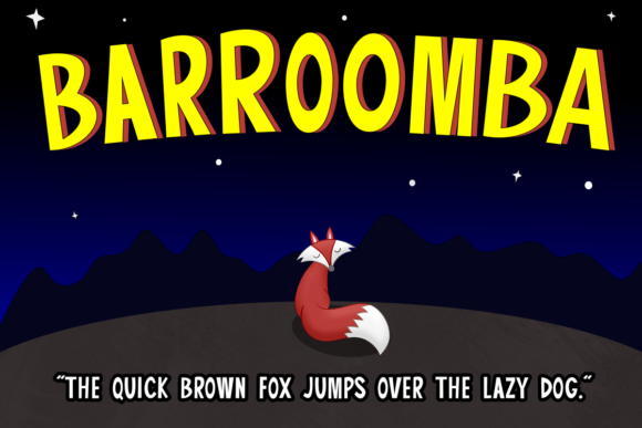 Print on Demand: Barroomba Display Font By estede75