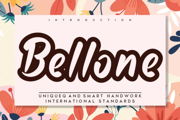 Print on Demand: Bellone Display Font By andikastudio
