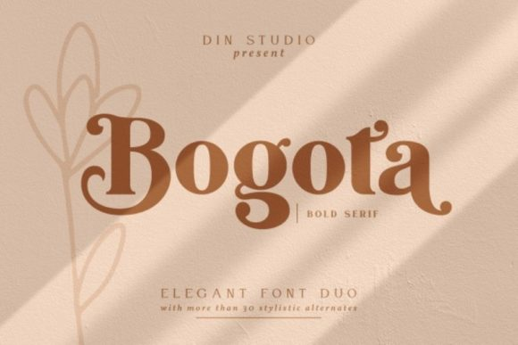 Print on Demand: Bogota Serif Font By Din Studio