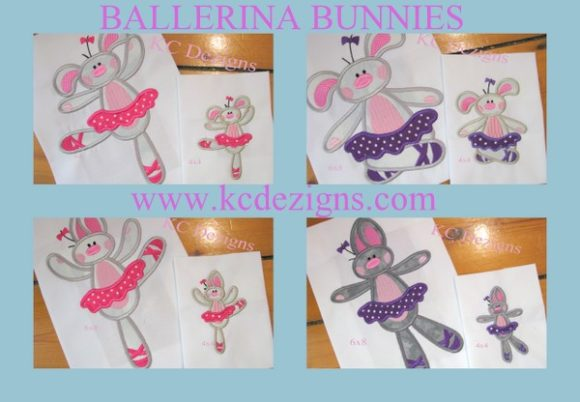 Bunny Ballerina Full Set Boys & Girls Embroidery Design By karen50