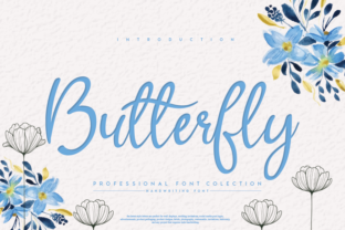 Print on Demand: Butterfly Script & Handwritten Font By andikastudio
