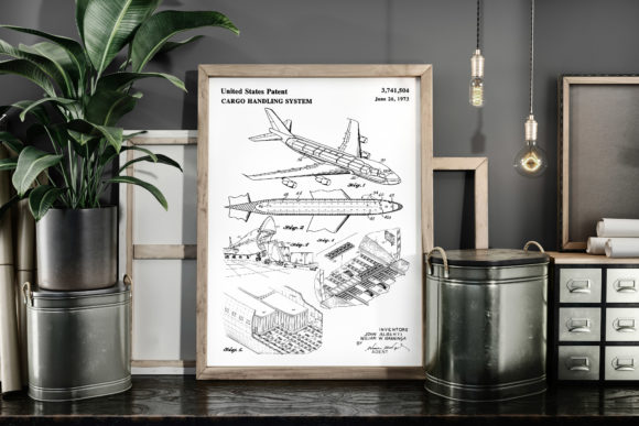 Print on Demand: Cargo Handling System Patent Art Poster Graphic Illustrations By Antique Pixls