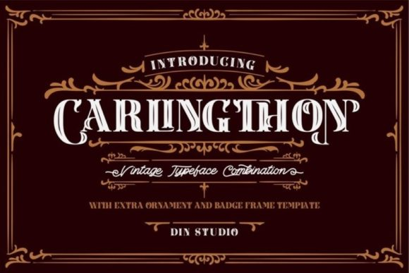 Print on Demand: Carlingthon Display Font By Din Studio