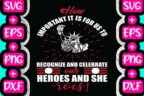 Print on Demand: Celebrate Heroes Quote Design Graphic Print Templates By svg.in.design
