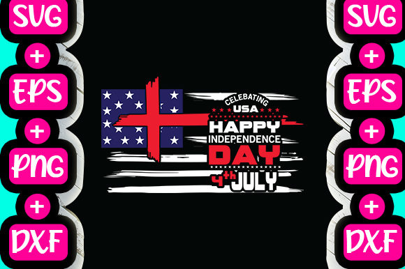 Print on Demand: Celebration USA Happy Independence Day Graphic Print Templates By svg.in.design