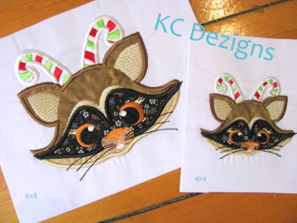 Christmas Chimp with Candy Cane Christmas Embroidery Design By karen50