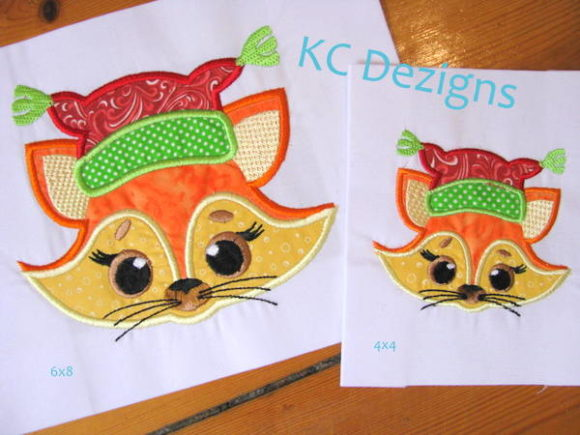 Christmas Critter - Fox Christmas Embroidery Design By karen50